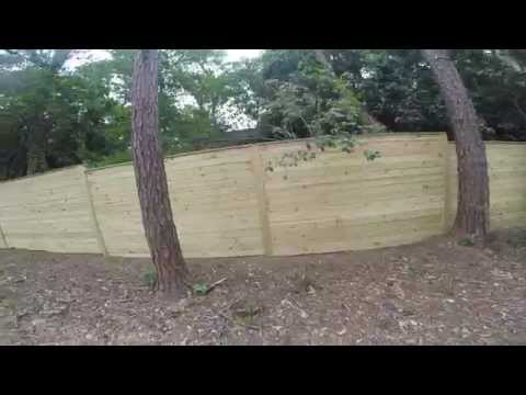 320 Ft long Horizontal Wood Fence