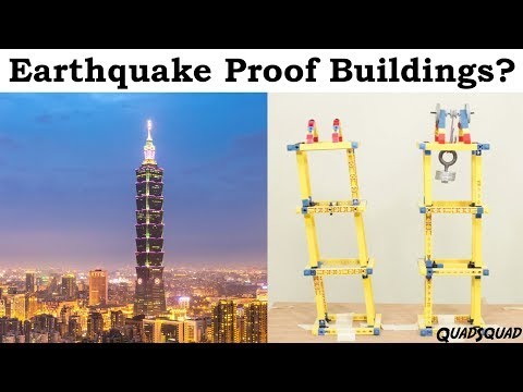 Earthquake Proof Buildings?   Science Fair Project with Justin
