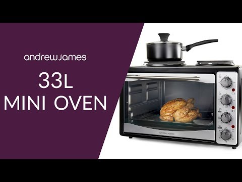 Andrew James 33L Mini Oven with Double Hob