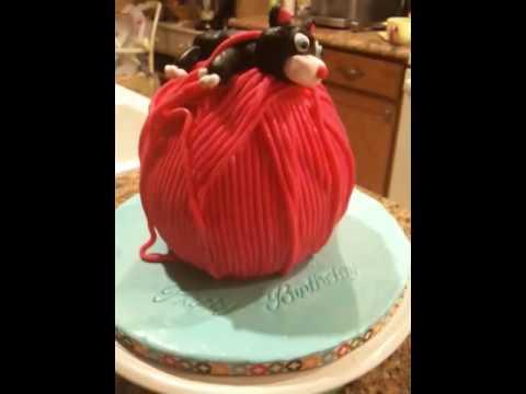 Kiity Cat Fondant Cake