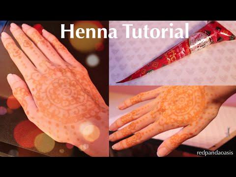 Henna Tattoo Tutorial (Mehndi Design) Before & After Look