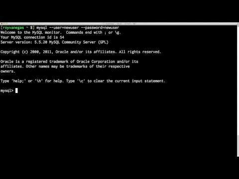 Logging in to MySQL via The Terminal on a Mac