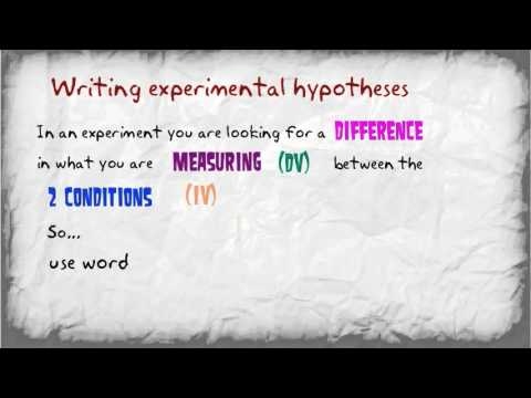 How to write hypotheses