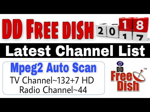 DD Free dish 2018 Latest Full Channel List | Auto Scan in Mpeg2 Settop Box | DD Freedish