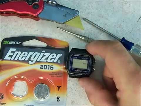 How to replace the battery on a Casio watch