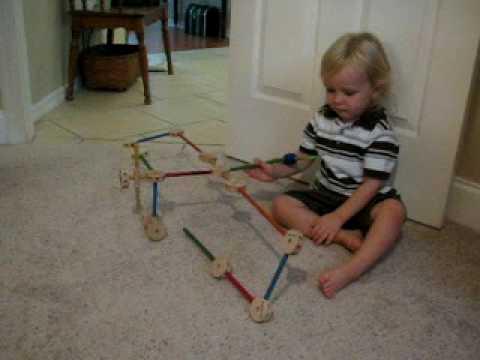 MVI 3013 Luke Building Tinker Toy Airplane