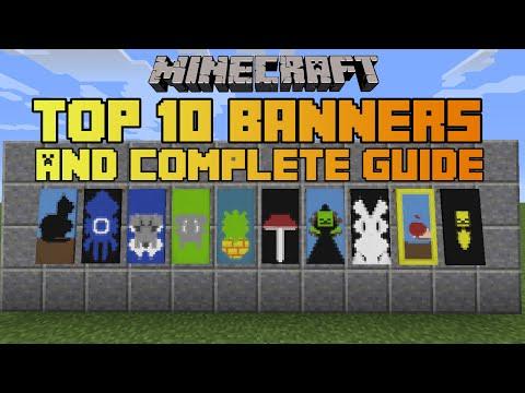Minecraft top 10 banner designs! With tutorial!
