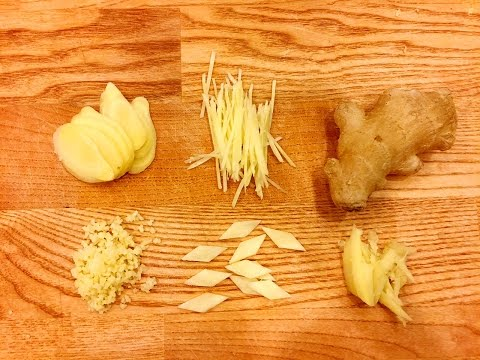 5 Ways to Cut Ginger for Chinese Cooking by CiCi Li