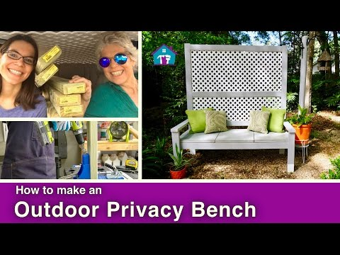 2-in-1 Outdoor Bench + Privacy Screen