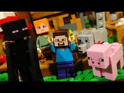 LEGO MINECRAFT - ENDERMAN ATTACK