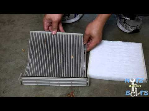 2001-2006 Toyota Camry Cabin air filter replacement