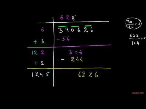 values of square roots Long division method   Squares and square roots   Math