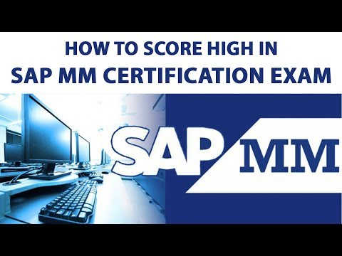 How to Score High in SAP MM Certification Exam?