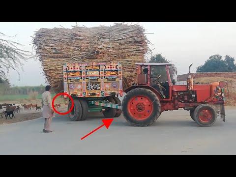 Dangerous Belarus 510 [60,000 KG] Sugarcane Load 🔥🔥🔥🚜🚜🚜👌👌👌🚜🔥