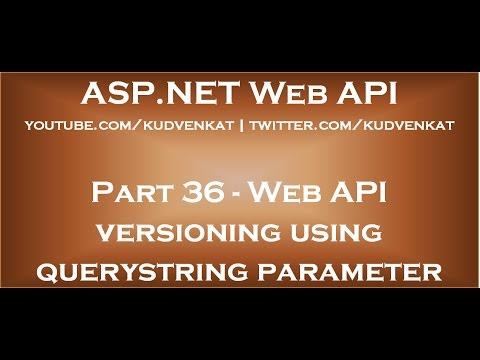 Web API versioning using querystring parameter