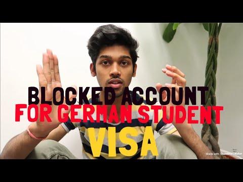HOW DO YOU OPEN BLOCK ACCOUNT FOR GERMAN VISA(