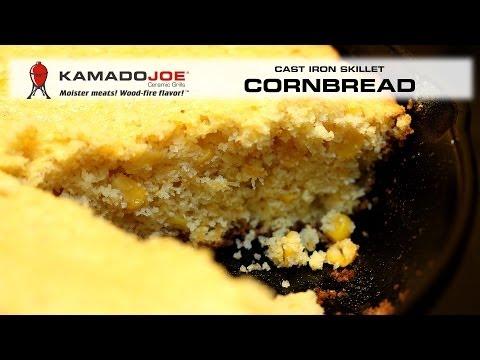 Kamado Joe Cast Iron Pan Cornbread