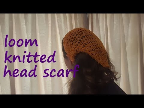 Loom Knitted Head Scarf