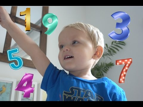 Toddler Counting to 10 | Learning numbers in Japanese, Arabic, Spanish, French