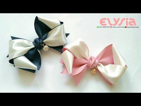 Twisted Hair Bow Tutorial | DIY by Elysia Handmade