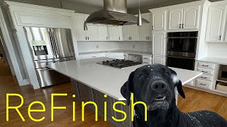 Kitchen ReFinish (New doors, paint, counter, and backsplash tile) bonus fun build stuff