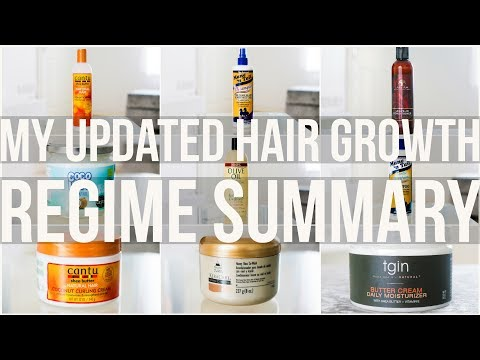 My Hair Growth Regime Summary (UPDATED) (Transitioning Hair) (2017)