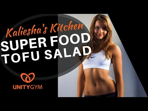 Protein Packed Vegetarian Meal | Kaliesha's Kitchen | Super Healthy Tofu Salad