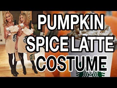 DIY PUMPKIN SPICE LATTE HALLOWEEN COSTUME!