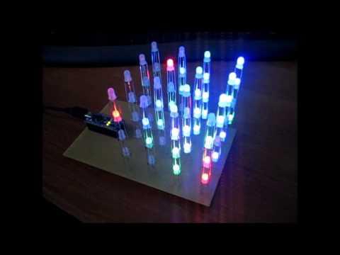 Arduino Nano 4x4x4 RGB Led Cube