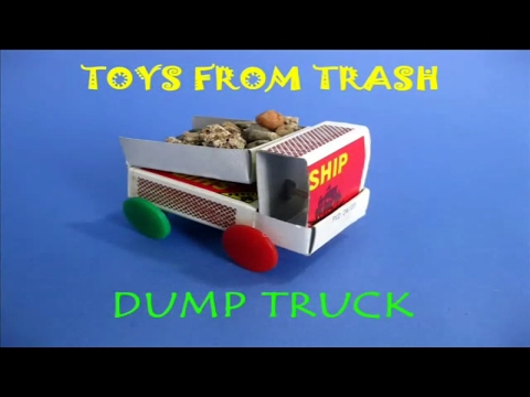 How to Make Dump Truck From MatchBox || Easy home Made