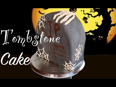 HOW TO MAKE A HALLOWEEN TOMBSTONE CAKE! || Ella Cakery