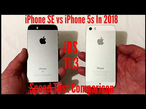 iPhone SE vs iPhone 5s in 2018. iOS 11.3 Speed Test Comparison