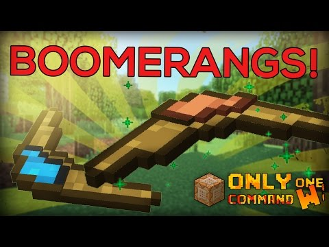 Boomerangs with REALISTIC FLYING PHYSICS! in one command block. [ Minecraft 1.10 ]