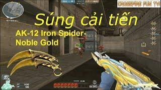 [CrossFire Fun TV] ▷ AK-12 Iron Spider-Noble Gold Vs Zombie