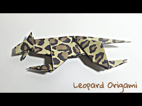 LEOPARD ORIGAMI TUTORIAL | ANIMALS ORIGAMI
