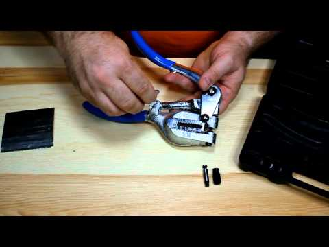 Using the Large Hole Punching Pliers