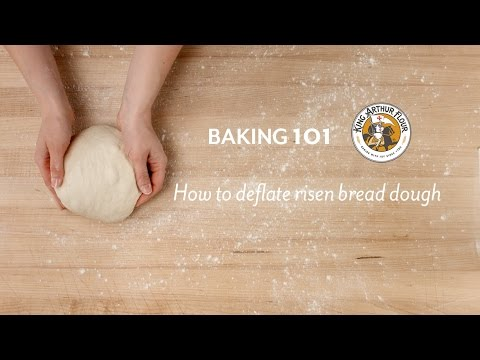 How to deflate risen bread dough