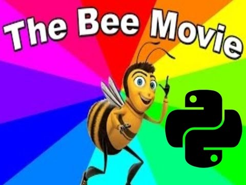 Reading the bee movie script but with python