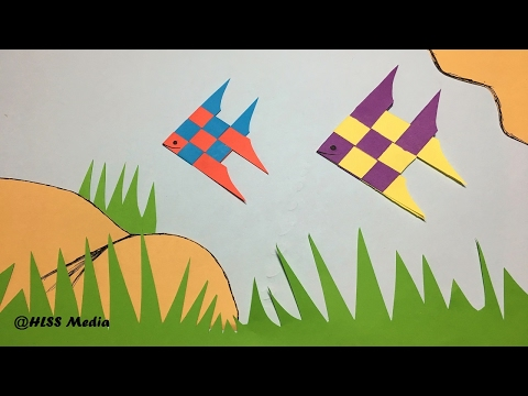 How to make an Origami Cute Fish Paper/ Fish Paper Folding craft/origami fish tutorial