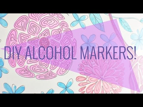 How to make your own alcohol markers using Crayola refill kit!