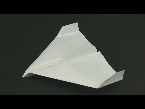 How to Make a Paper Airplane - Stealth Glider
