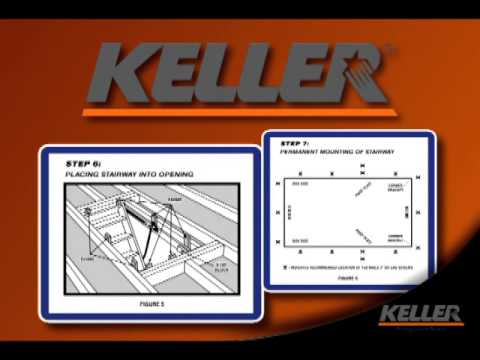 Keller - Wood Attic Ladder Complete Installation Video