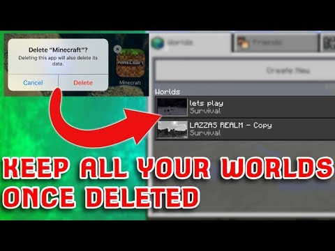 How To Delete Minecraft Pocket Edition AND Keep All Your Worlds