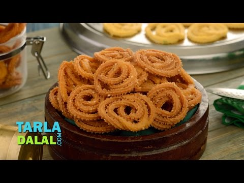 चकली (Chakli / Diwali Dry Snack / How to Make Rice Chakli Tea Time) by Tarla Dalal