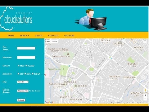 Make Contact Us From with Google map services in very easy manner only in 10 minutes