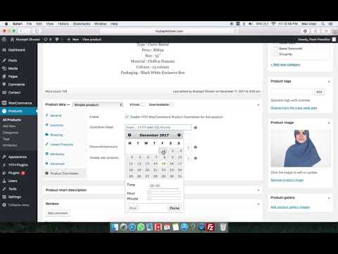 How to set count down timer on woocommerce product