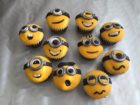 How to decorate: Minion cupcakes คัพเค้ก
