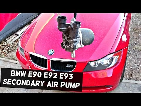 BMW E90 E92 E91 E93 SECONDARY AIR PUMP REMOVAL AND REPLACEMENT