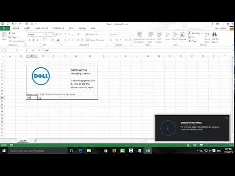 How to Make Business Cards with Microsoft Excel