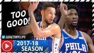 Joel Embiid 28 Pts & Ben Simmons 16 Pts Full Highlights vs Trail Blazers (2017.11.22) - TOO GOOD!